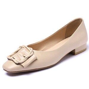 Image 2 - Fedonas 2020 봄 여름 품질 정품 가죽 여성 펌프 하이힐에 얕은 슬립 파티 웨딩 사무실 신발 여자