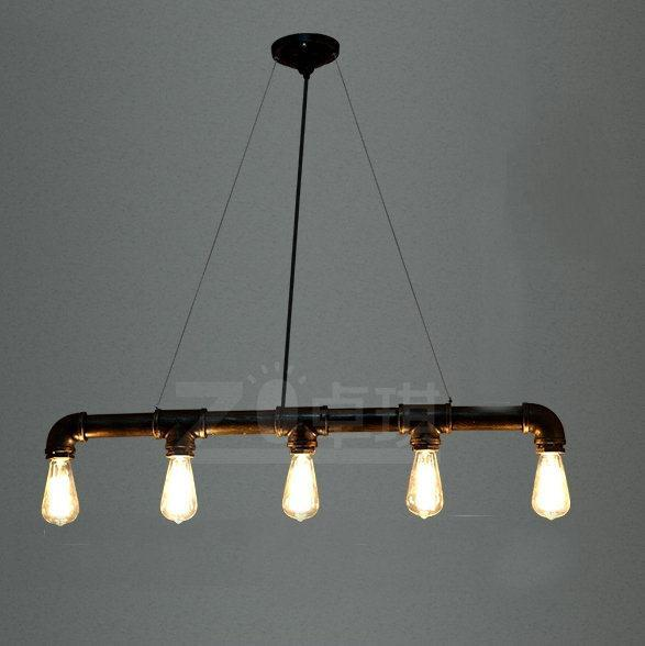 цена на Retro loft industrial metal pipes pendant light free shipping 5 light lamp home dinning room lamp