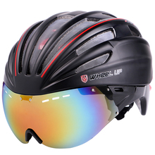 Free shipping WHEEL UP Integrally Aerodynamic EPS Lens Cycling Helmet Ultra-Light Mountain Bike Helmet MTB TT Bicycle Helmet