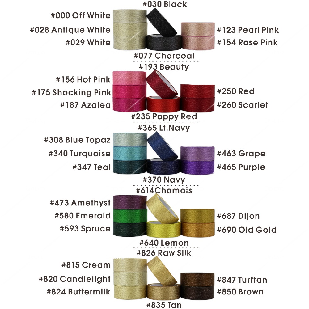 35 Colors Gold Purl Satin Ribbon 3 6 9 16 22 38mm - Өнер, қолөнер және тігін - фото 2