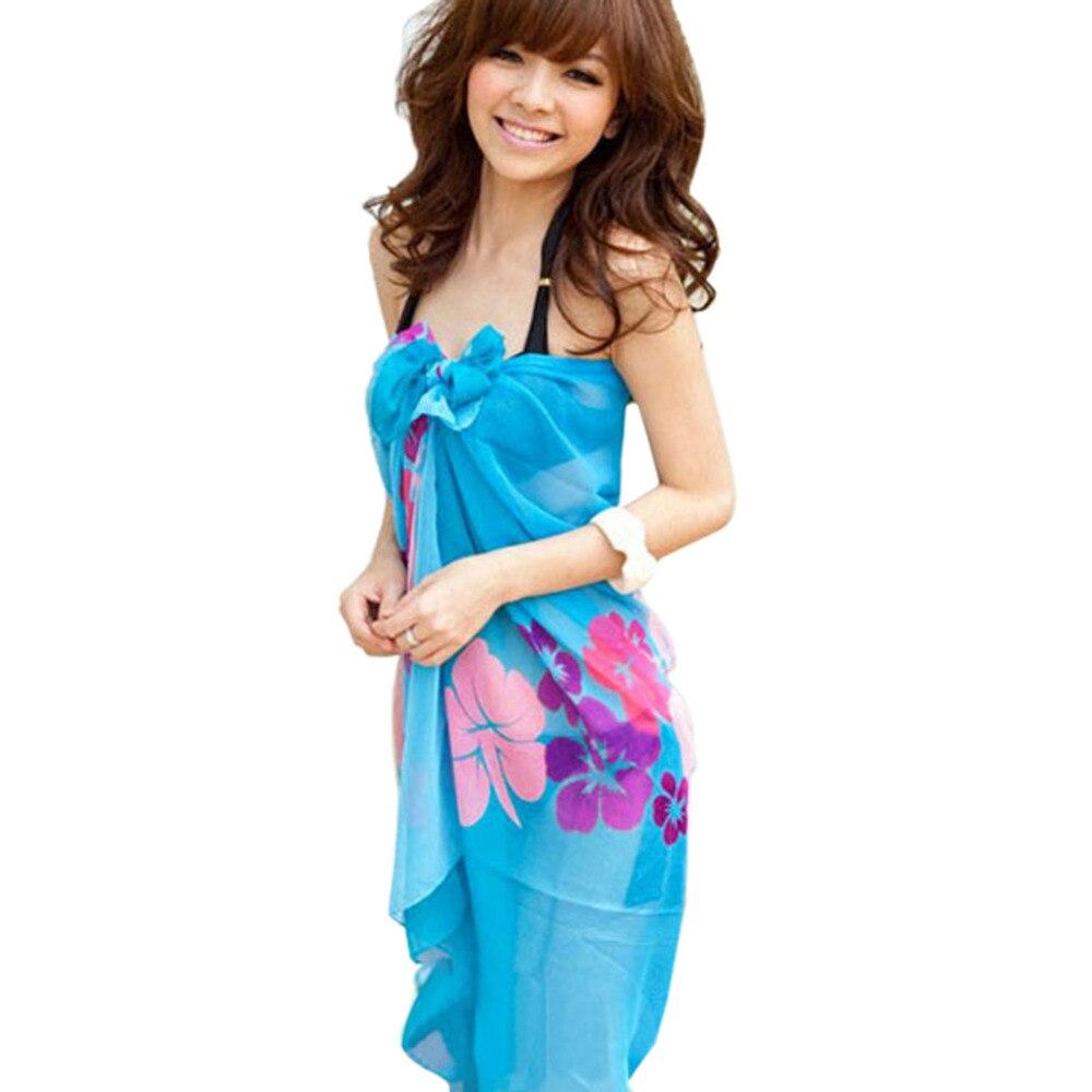 Women Summer Dress Chiffon Wrap Sarong Xmas Beach Swimwear Swimsuit Bathing Suit Cover Bikini Scarf Pareo bandana - Shenzhen Xinerxin Co.,Ltd store