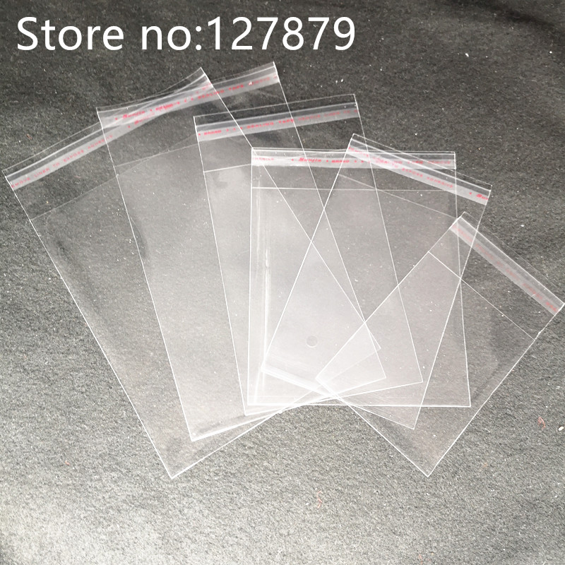 6 Sizes Clear Self Adhesive Cello Cellophane Bag Self Sealing Plastic Bags Candy Packing Resealable Cookie Packaging Bag Pouch Gift Wrapping Designs