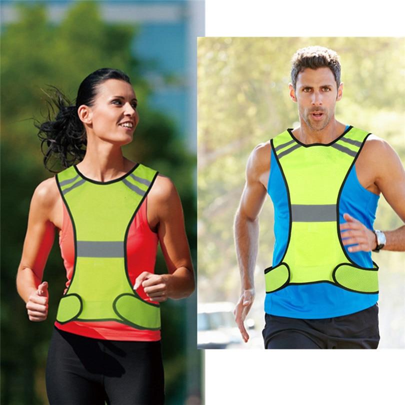 1~4X Visibility Sport Safety Reflective Vest Belt Night Running Jogging Gear Lot