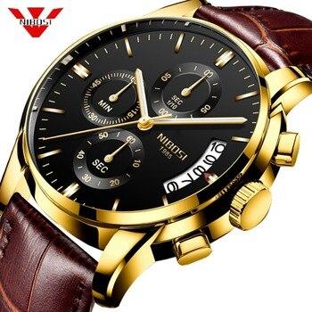 2019 NIBOSI Watches Men Luxury Brand Quartz Watch Fashion Chronograph Watch Reloj Hombre Sport Clock Male hour relogio Masculino