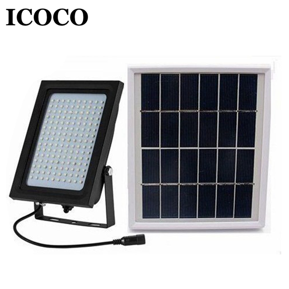ICOCO 150 LEDs Solar Power Human Body Motion Sensor Lamp Waterproof Energy Light for Outdoor Garden Security Leds Path Lamp icoco 1pcs 6 leds intelligent pir infrared human body induction lamp motion sensor night light for bedroom closet canbinet new