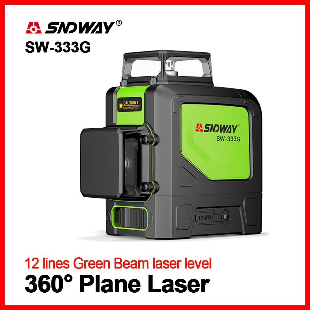 SNDWAY Laser Green Levels Laser Level 360 Degree Laser Level 3D Rotary Self Leveling Vertical Horizontal