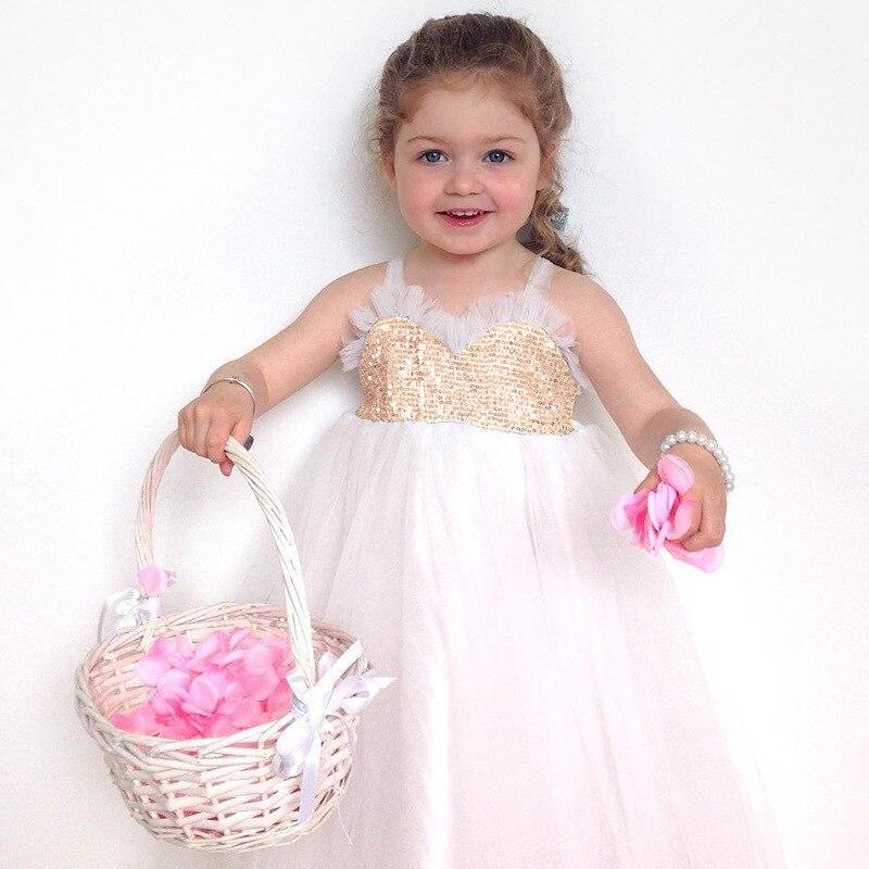 Sukienka dla dziewczyn 2018 Summer Sequined Lace Tutu Tulle Wedding - Ubrania dziecięce - Zdjęcie 3