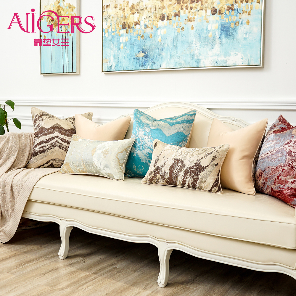 Avigers Colorful Wave Ink Striped Cushion Covers Home