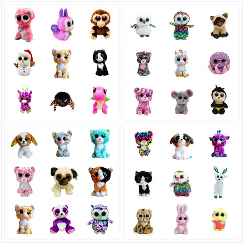 Super Cute 6 Big Eyes Plush Animal Bear Dog Cat Rabbit Toy Doll Child Kids Son Daughter Brithday Ty Baby Toys For Kids Gifts Toys For Toy Dolltoys For Kids Aliexpress