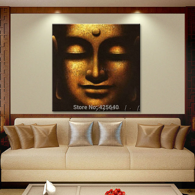 Buda Buddha Oil Painting Zen Buddha Canvas Wall Art Pictures For Living Room  Modern Abstract Cuadros