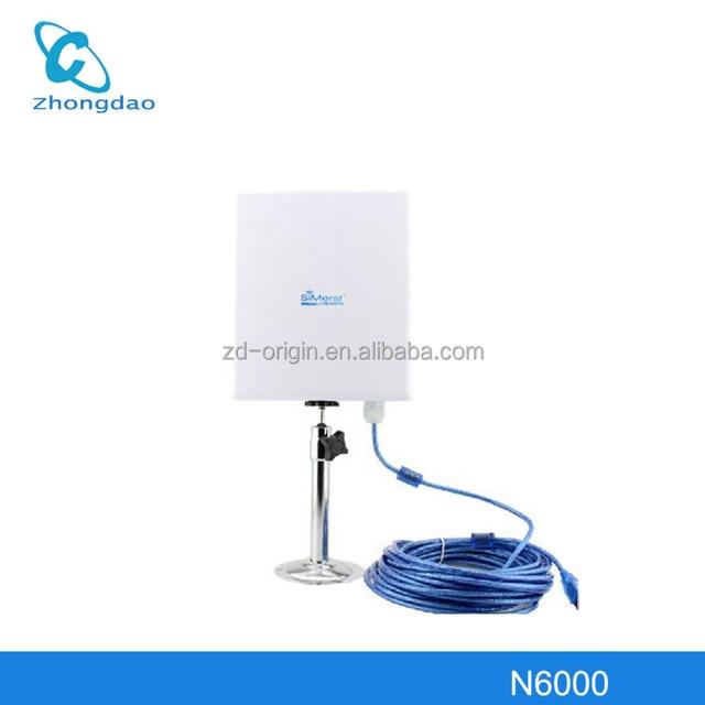 Antena WIFI SM-6000 3000MW 68dBi USB 5meters extend cable 5km High Power 68dbi waterproof wireless adapter