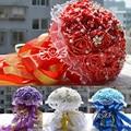 Элегантный шелк будить свадьба букет для свадьба ну вечеринку дизайн роскошь жемчуг искусственный свадьба бросить букет WF004