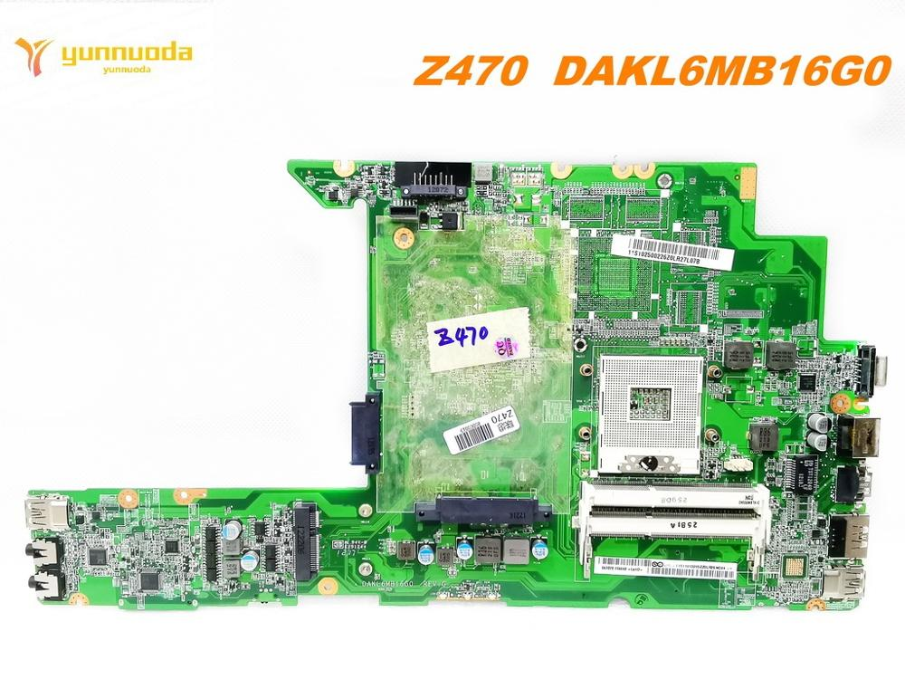 Original For Lenovo Z470 Laptop Motherboard Z470  DAKL6MB16G0   Tested Good Free Shipping