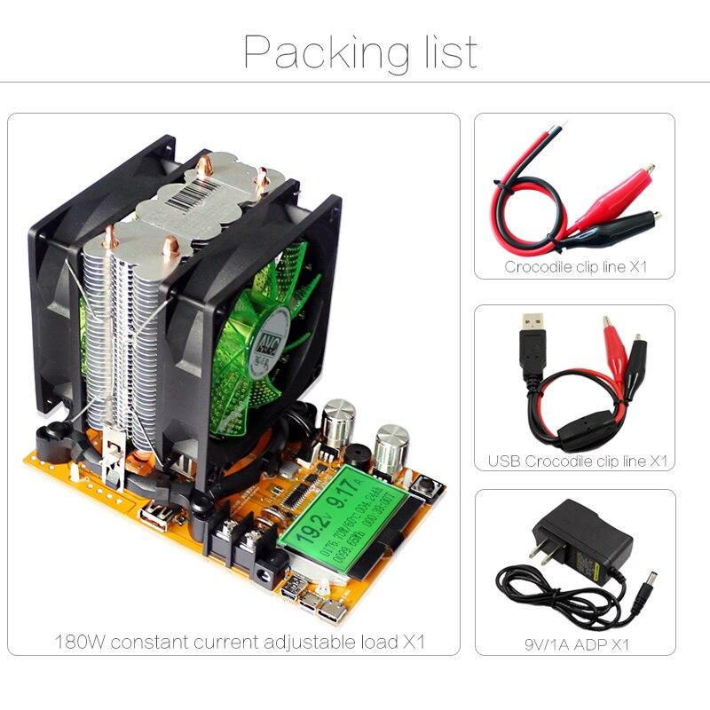200V 20A 180W ajustable Corriente constante Carga electrónica - Instrumentos de medición - foto 3