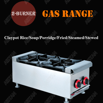 GH2 commercial 2-burner counter top gas range/stove/cooker for claypot rice and kitchen cooking equipment 2