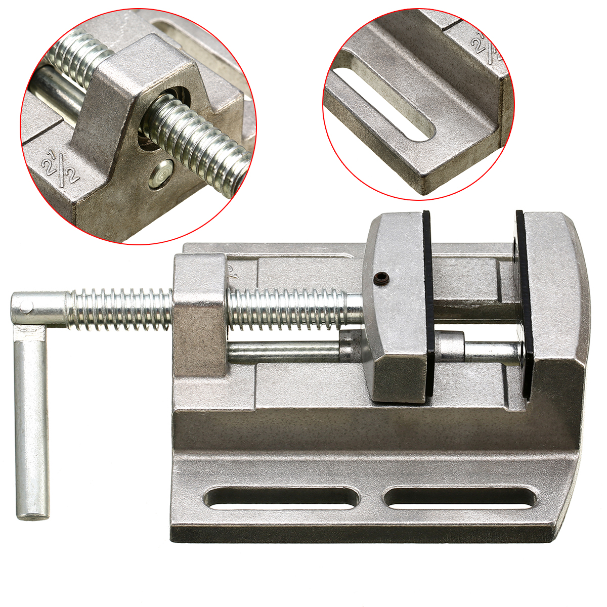 New Arrival 1pc Drill Press Vice Durable Milling Machine Bench Drill Vise Aluminum Alloy Drilling Clamp Machine Tool 8 drill machine press quill feed return coil spring assembly 41mm