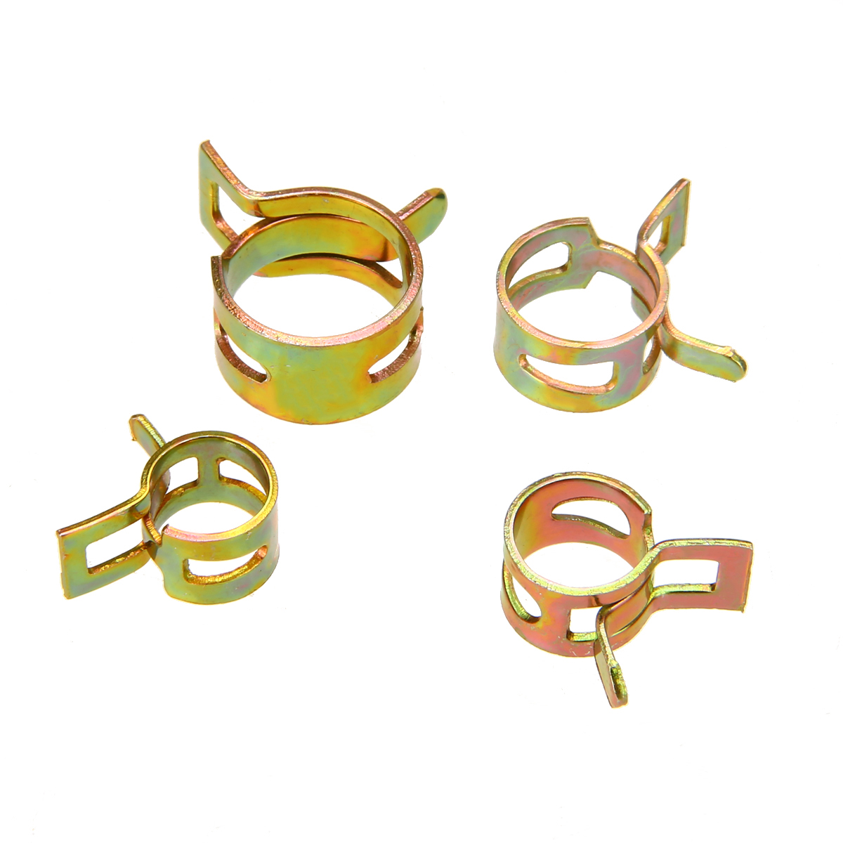 60Pcs/Set 6/9/10/12/14/15MM Steel Spring Clip Fuel Oil Water Hose Pipe Clamp Fastener for Air Hose Tube Silicone Vacuum Hose воздухозаборник silicone vacuum hose 2