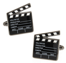 iGame Cufflinks Factory Retail Fashion Cufflinks Black Color Hollywood Film Design Cuff Links