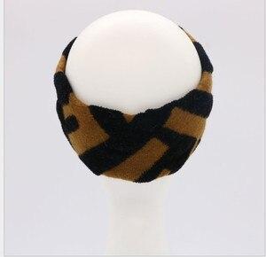 Image 4 - Kadın jakarlı yün karışımı elastik örgü bantlar saç bandı