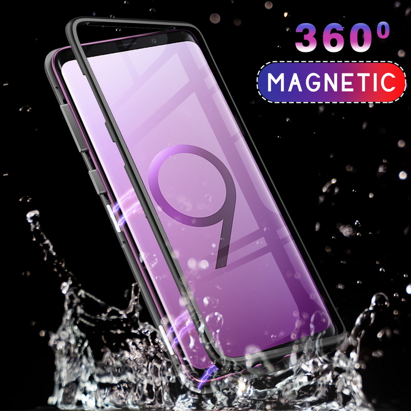GETIHU Magnetic Metal Case For Samsung Galaxy S9 S8 S10 Plus Note 8 9 Plus Edge Coque + Tempered Glass Phone Cases Magnet CoverGETIHU Magnetic Metal Case For Samsung Galaxy S9 S8 S10 Plus Note 8 9 Plus Edge Coque + Tempered Glass Phone Cases Magnet Cover