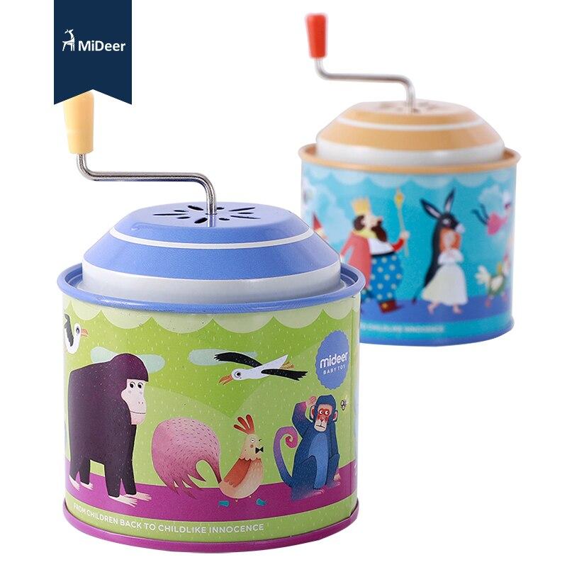 MiDeer children's classic enlightenment piano music hand music music box baby fairy hand crank gift for children