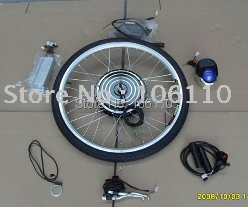 36v 500w electric bike conversion kit with front wheel + 36v 10ah lithium battery