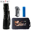 CREE XML T6 LED Flashlight 6000 Lumens Lanterna High Power Adjustable led Torch Zoomable Flashlight + Charger +1* 18650 Battery