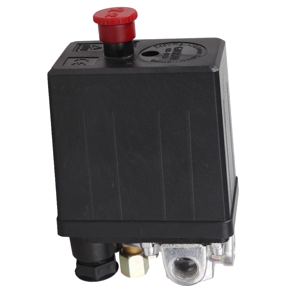 New Style Heavy Duty Air Compressor Pressure Switch Control Valve 90 PSI -120 PSI Black new arrival air compressor pressure valve switch manifold relief regulator gauges 180psi 240v 45x75x80mm promotion price