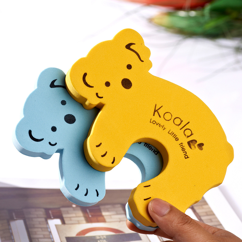 kids baby EVA Safety Safeguard Gates Door stopper Cartoon Doorways protection tool Baby hand clamping preventionSafety door card 65 173cm width baby safe doorways fencing for children door stopper pet gates