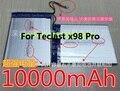 3.7V 10000mAh Tablet Battery Bateria For Teclast X98 Pro Tablet PC Battery for Teclast x98 pro battery