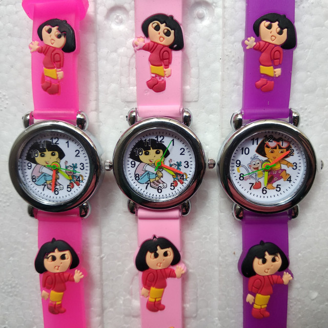 Learn To Time Kids Watches For Boy Girls Student Clock Dora Anna Princess Fashio