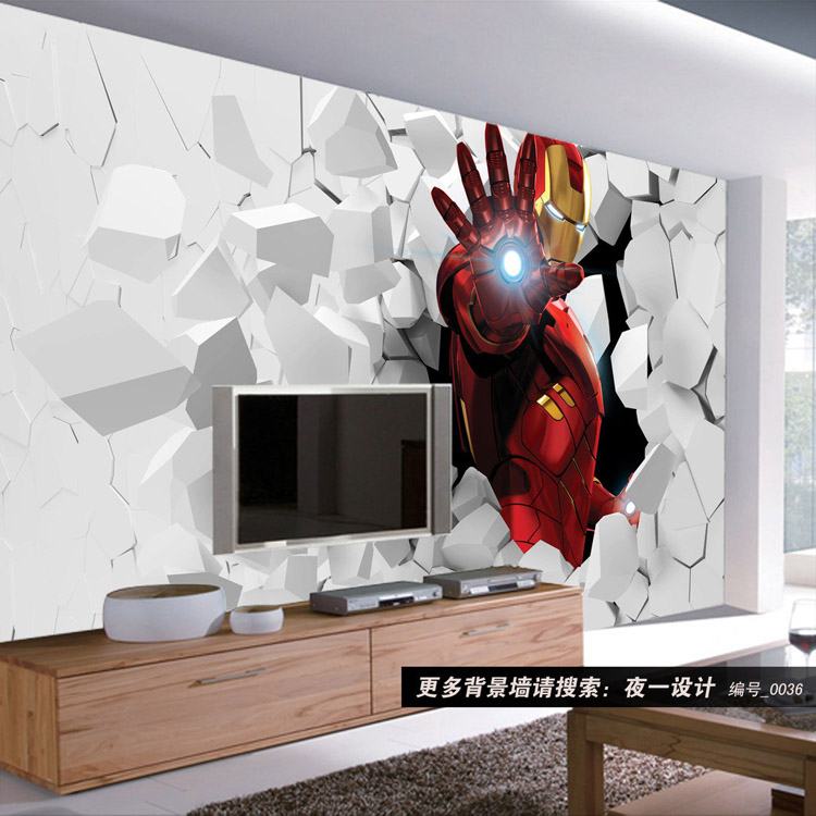 buy 3d iron man photo wallpaper custom wall murals amazing wallpaper interior. Black Bedroom Furniture Sets. Home Design Ideas