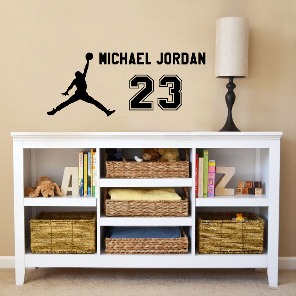 Michael jordan 23 decal wall sticker art home decor basketball michael jordan 23 decal wall sticker art home decor basketball sports stickers in wall stickers from home garden on aliexpress alibaba group amipublicfo Choice Image