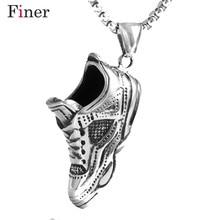 Vintga Punk 316L Stainless Steel Shoe Pendants Necklace Charm Men Fashion Jewelry New Arrival Product