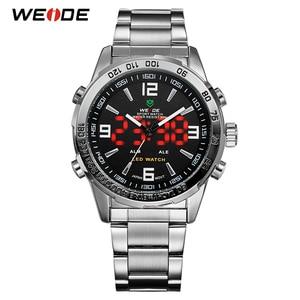 Image 2 - WEIDE 2019 גברים של עסקים מקרית שעונים יוקרה מותג קוורץ LED תנועה דיגיטלית שעון יד שעון צבאי Relogio Masculino
