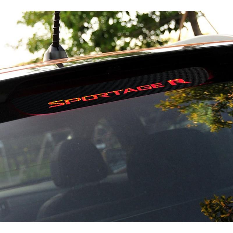 Car Brake Light Carbon Fiber 3D Samolepka brzdových světel Dekorační samolepky Pouzdro pro Kia Sportage R 2011 až 2015 Příslušenství
