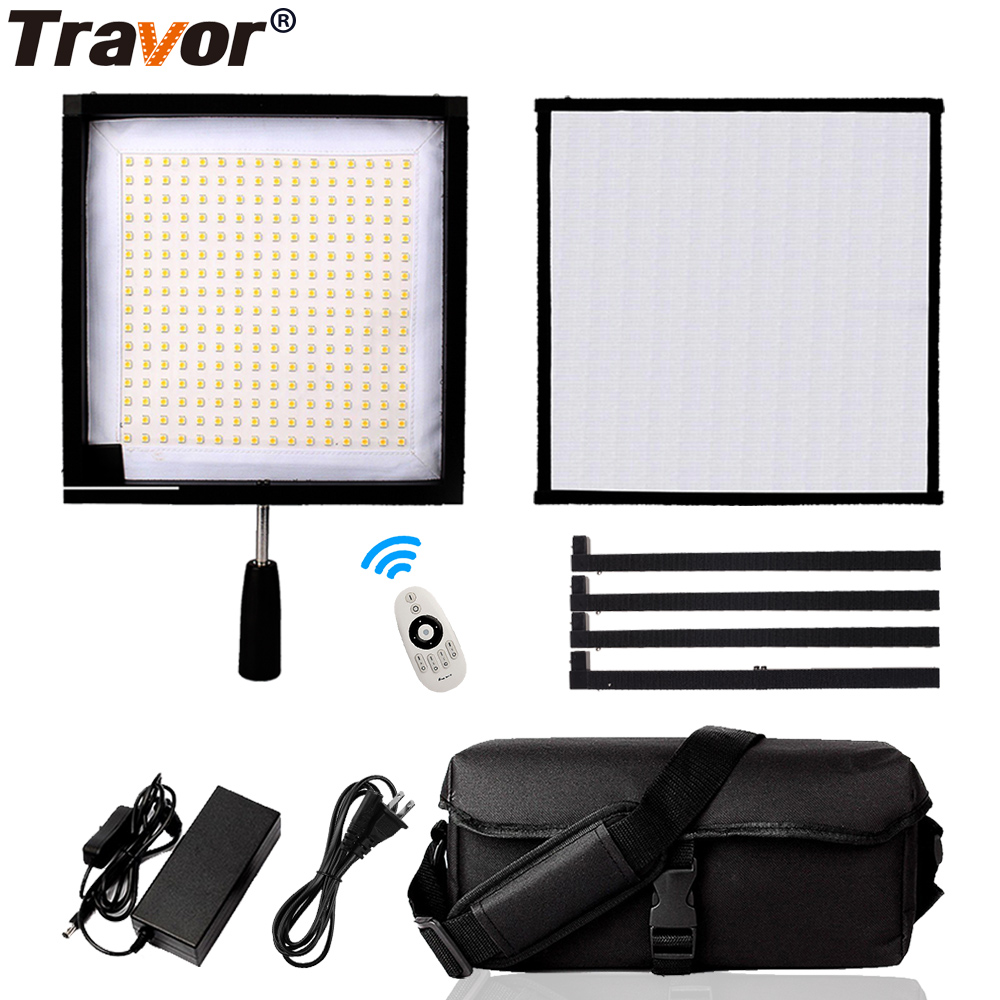 Travor FL-3030A LED Video Light Flexible Panel Light 30*30 Bi-color 3200/3500K Studio Photography Light With 2.4G Remote Control thl t11 android 4 2 3g phablet with 5 0 inch hd screen mtk6592w 1 7ghz octa core 2gb ram 16gb rom gps otg nfc dual cameras