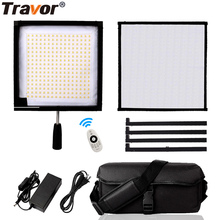 Travor FL-3030A LED Video Light Flexible Panel Light 30*30 Bi-color 3200/3500K Studio Photography Light With 2.4G Remote Control wireless remote control dimmable bi color 2pcs 300w led fresnel spotlight as arri hmi par light video equipment
