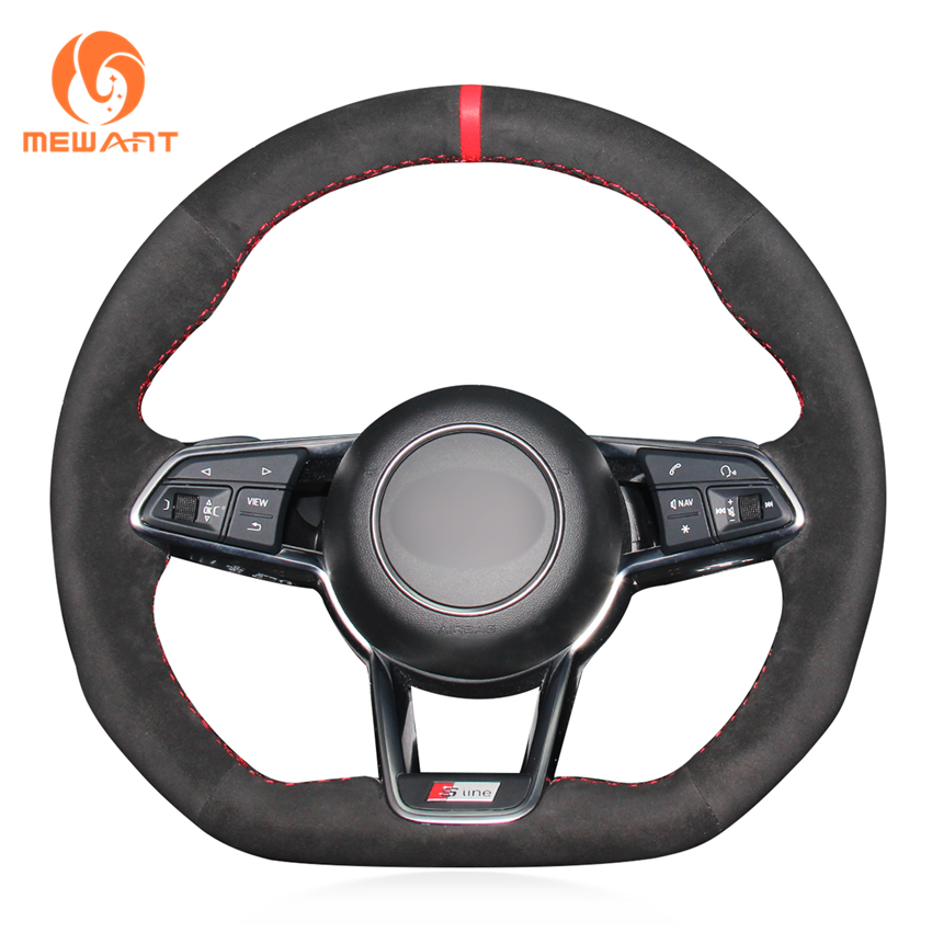 MEWANT Black Suede Car Steering Wheel Cover for Audi TT 2017 игрушка pitstop audi tt coupe blue ps 444004 b