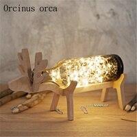 Original design deer lamp handmade glass deer night lamp Nordic wind lamp LED lamp|lamp led|lamp handmadelamp led design -