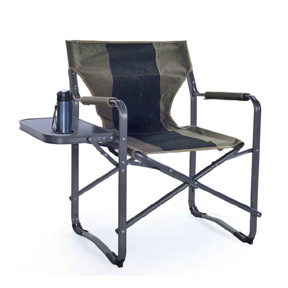 Folding Director Chair Us 83 1 15 Off A Multifunction Folding Director Chair Outdoor Fishing Chair Aluminum Alloy Tube Leisure Chair 600d Oxford Cloth With Side Table In