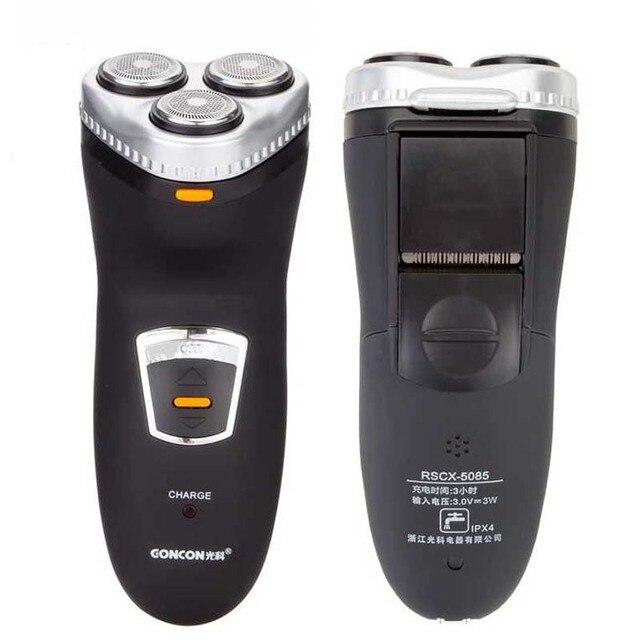 men electric shaver razor High-precision Mesh 3 Heads Electric Shaver Rechargeable Black Washable razor 5085