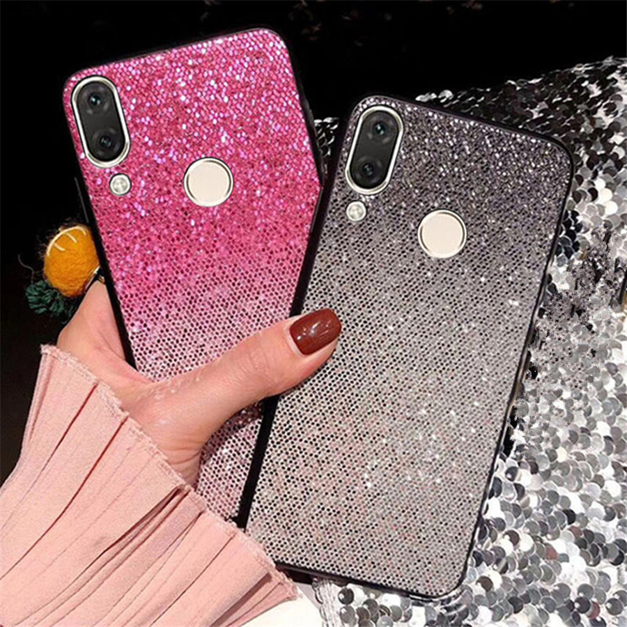 Glitter Bling Capa <font><b>Silicone</b></font> Soft <font><b>Case</b></font> For <font><b>Huawei</b></font> <font><b>Y6</b></font> Y7 2019 Pro Prime Honor 8A Y5 <font><b>Y6</b></font> <font><b>2018</b></font> Mate 20 Lite Mate 10 Shell Cover Funda image