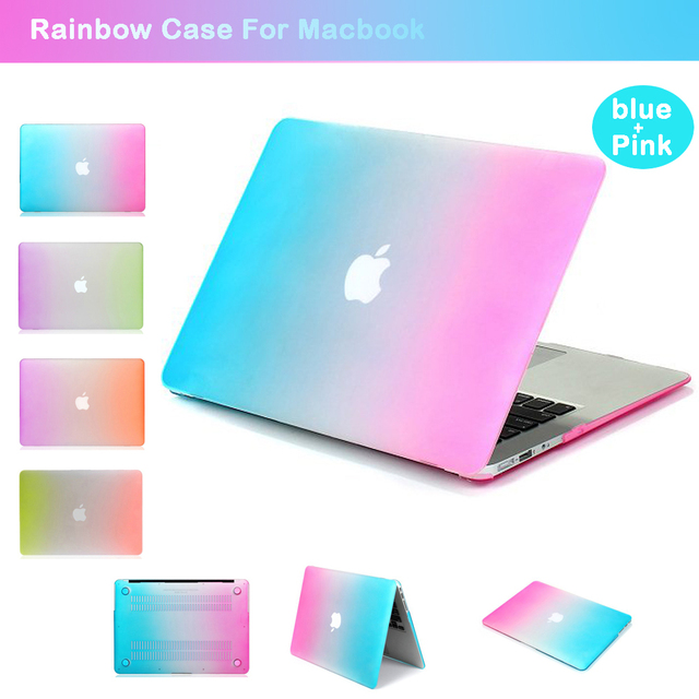buy popular 393f9 fff1f US $11.89 18% OFF|Laptop Protective Case for Apple Macbook 15.4Retina A1286  Rainbow Case for Macbook air/pro/retina 13.3 A1369 A1502 A1278-in Laptop ...