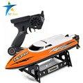 Lanchas rc barco eléctrico de control remoto modelo de motor barcos niños barco eléctrico para niños atletismo toys refrigeración por agua 2.4g