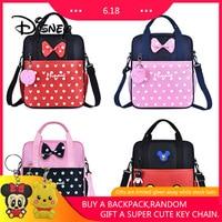 Disney Mickey Minnie Pupils Student Backpack Mickey Mouse Women Handbags Diagonal Bags Boy Girl Waterproof Bag Birthday Gifts