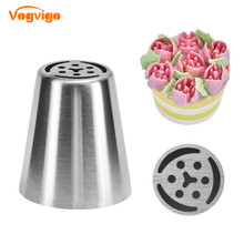 VOGVIGO 2019 New Confectionery Nozzles Stainless Steel Russian Pastry Cake Decorating Tools Baking Pastry Cream Nozzles vogvigo 2pcs 304 stainless steel pastry nozzles cake decorating tools dessert decorator nozzles flower confectionery nozzles