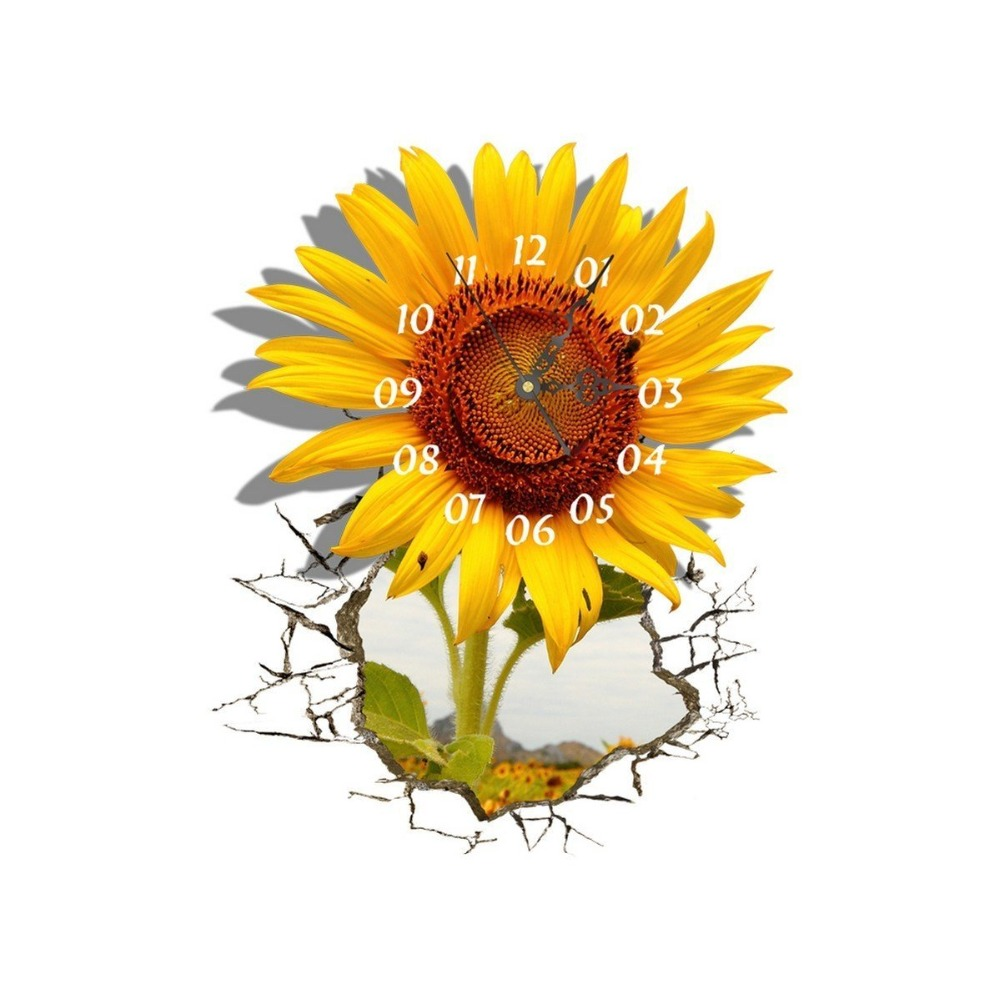 Buy sunflower wall clock Online with Free Delivery