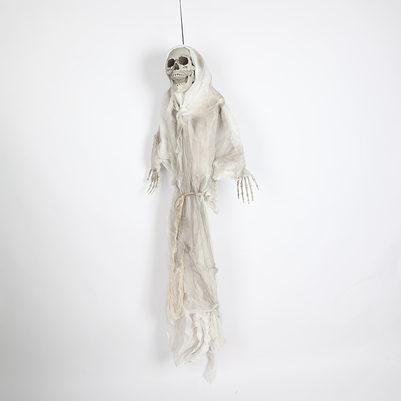 HTB1 9 qXh2rK1RkSnhJq6ykdpXap - 165cm Halloween Hanging Ghost Haunted House Escape Horror Halloween Decorations Terror Scary Props Theme Party Drop Ornament 1pc