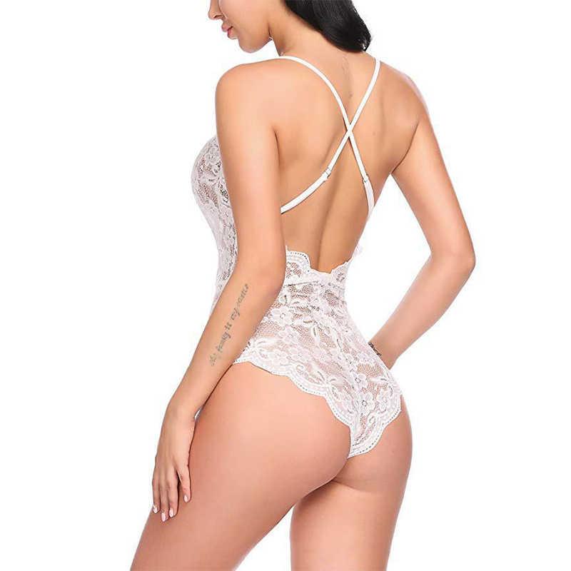 Mono Perspectiva de Mujer talla grande de encaje calado Bodysuit sexo Lencería club nocturno ropa nueva